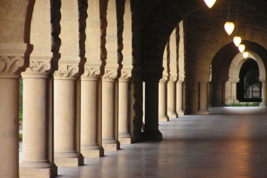 the archway at Stanford University's