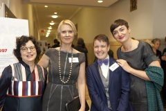 Cynthia Nixon (gala presenter) and guests smiling for the picture