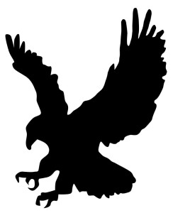 A silhouette of an eagle.