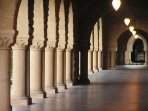 "the archway at Stanford University's ""oval"""