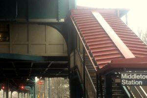 Inaccessible Entrance for Middletown Road Subway
