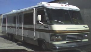RV parked outside
