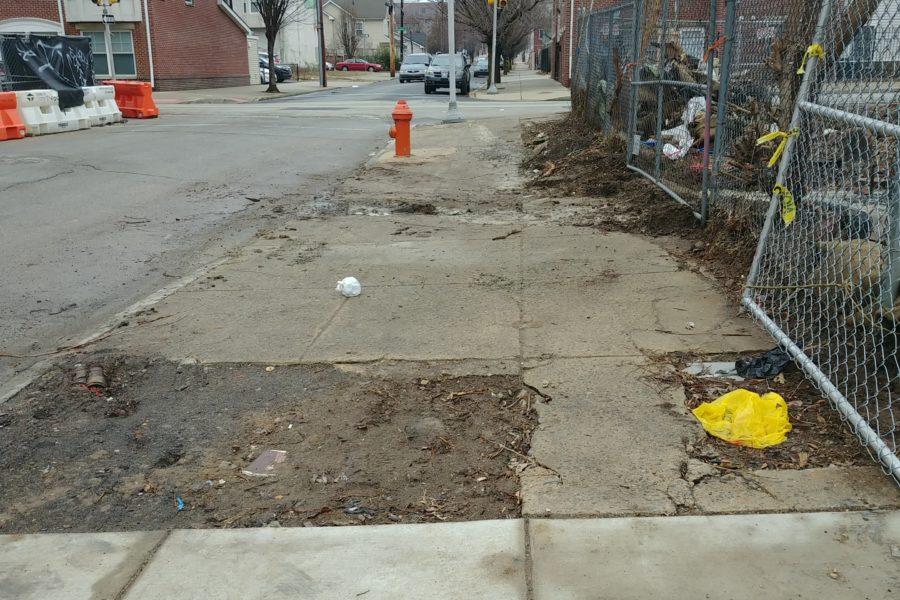 Hazardous sidewalk in Philadelphia